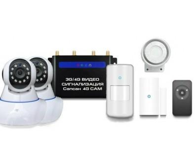 GSM сигнализация Sapsan GSM 4G CAM с датчиками и 2-мя комнатными видеокамерами