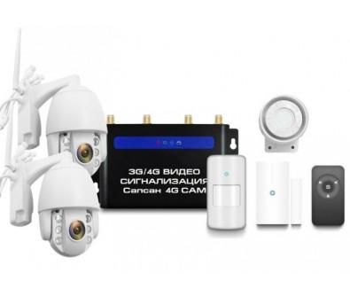 GSM сигнализация Sapsan GSM 4G CAM с датчиками и 2-мя уличными поворотными камерами