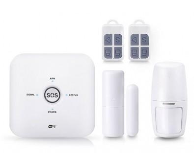 Комплект беспроводной охранной WiFi/GSM сигнализации Страж Смарт 2019 для дома квартиры дачи