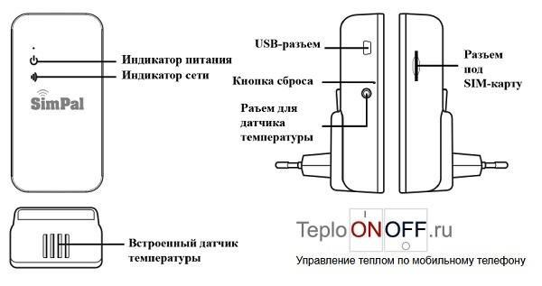 Simpal T4 GSM датчик температуры
