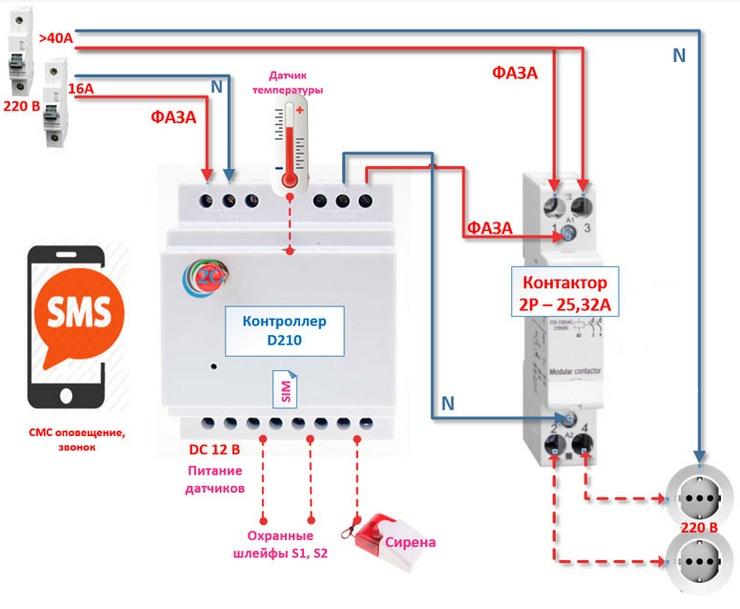 схема подключения simpal d210