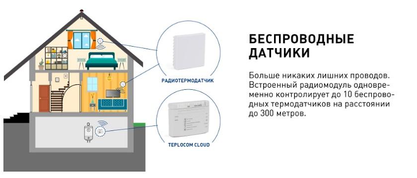 беспроводные датчики teplocom